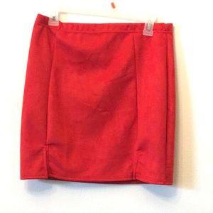 Pretty little thing suede side split miniskirt